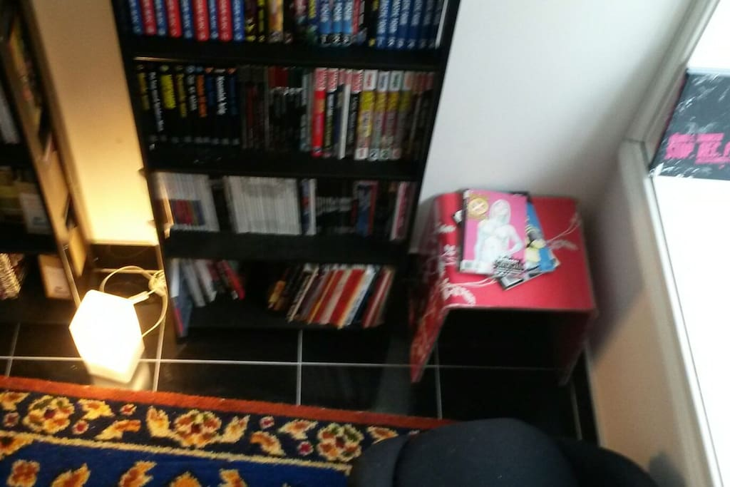 Spare room with comics.