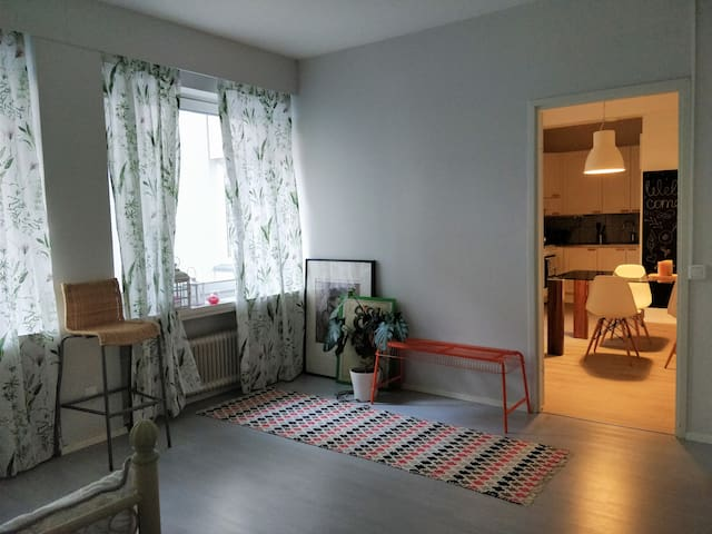 Fresh two-room apartment in the heart of the city.