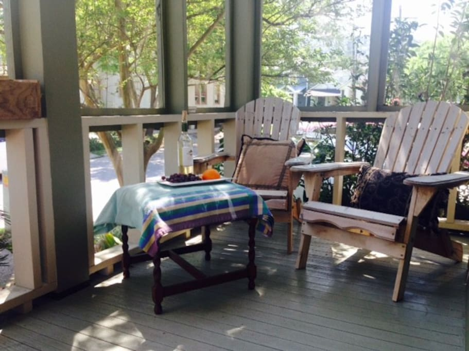 Relax on your own private screened porch