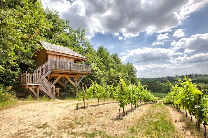 Cabane dans les arbres aux portes de Bordeaux - Arbis - Stuga