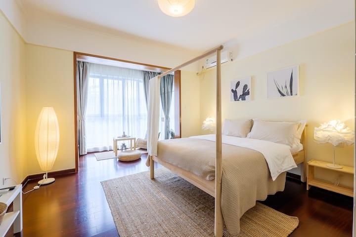 HOME| 佳兆业广场/宜家家居/有暖风/50寸电视/和风大床房