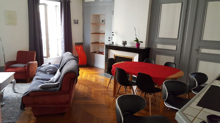 Chambre ds appartment centre ancien - Roanne - Apartment