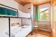 The 3° Bedroom with bunk bed  with soft bed linen and towels