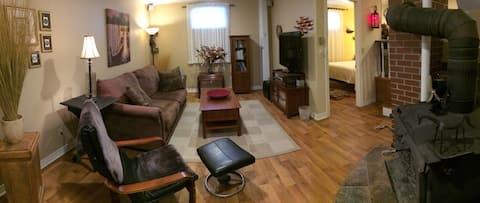 Cozy basement living area!