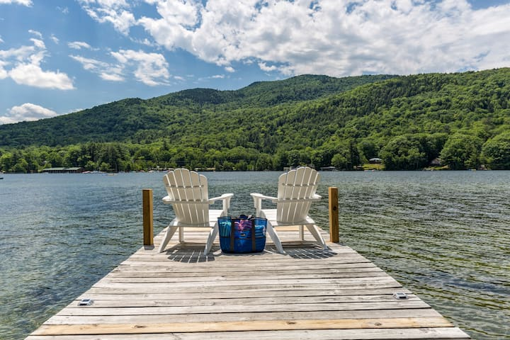 Lake Sunapee Waterfront, Swimming + Mountain Views