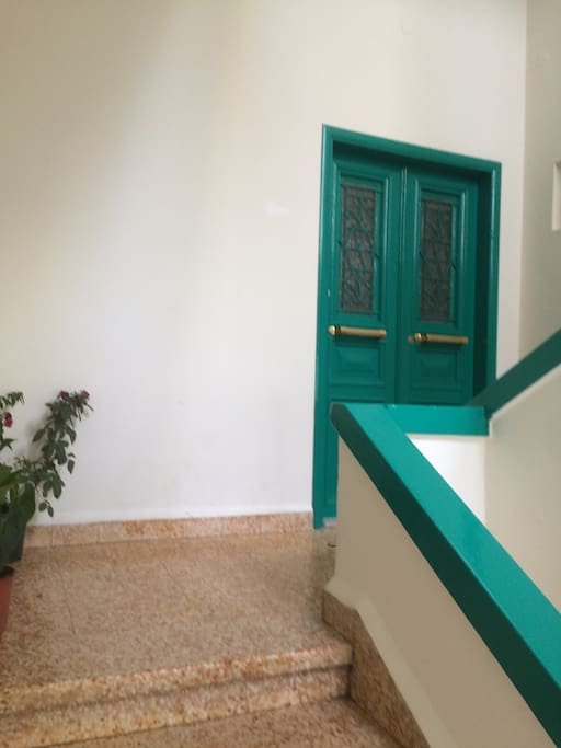 Entrance Apartment Door 7 steps from Ground Level