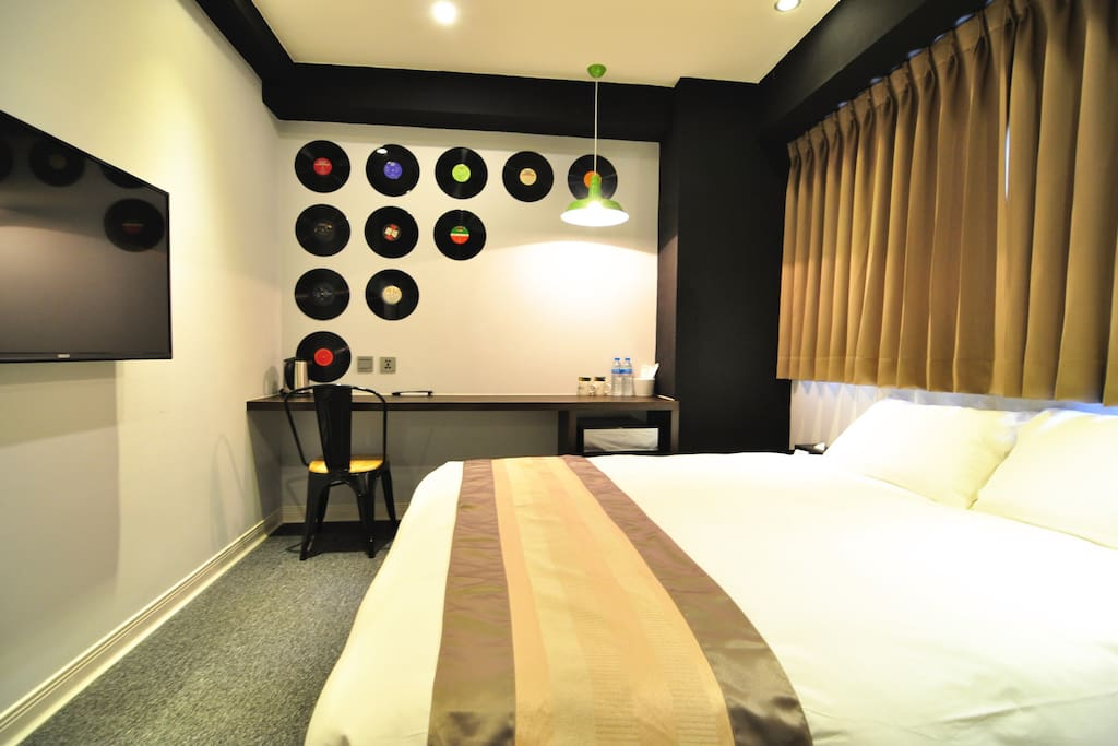 501-Jazz黑膠房 Double Room with Private Bathroom