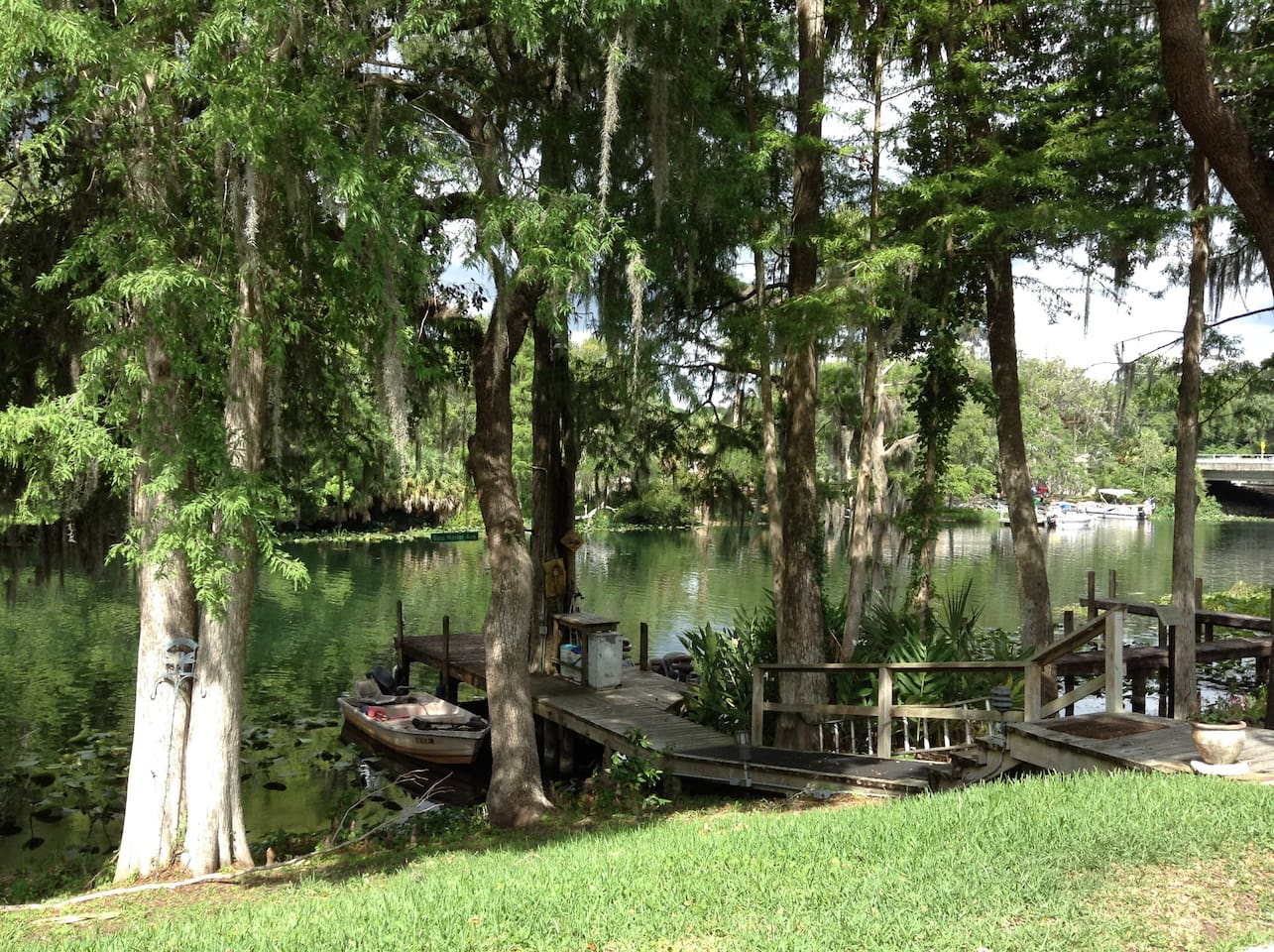 We have it all! Beautiful views of the Withlacoochee River and an abundance of wildlife plus a fishing pier and a boat slip,  and there's a boat ramp right across the river!