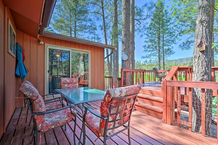 Private Pine Cabin w/ Deck & Meadow Views!
