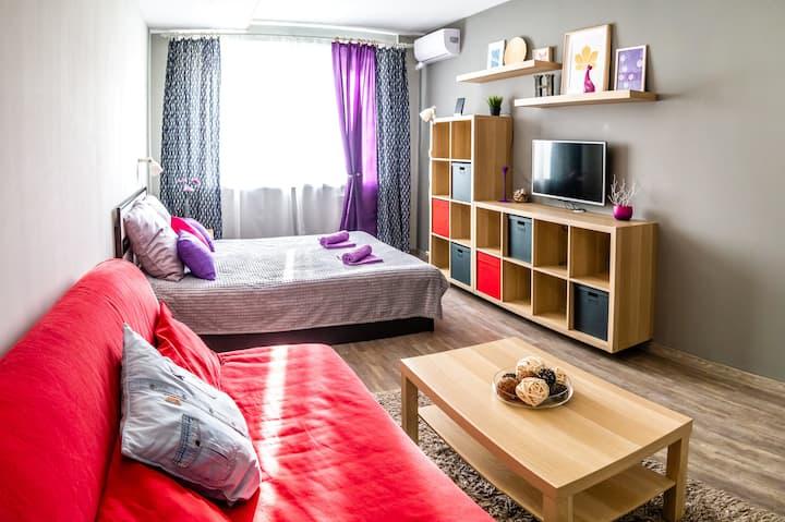 Уютная квартира с видом на Сызрань и реку Волгу
