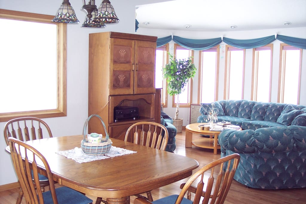 Upstairs great room from kitchen