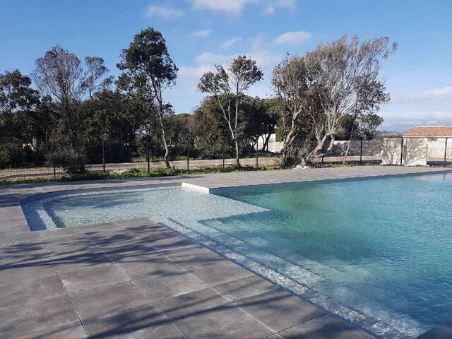 villa climatisé 6 pers piscine chauffée