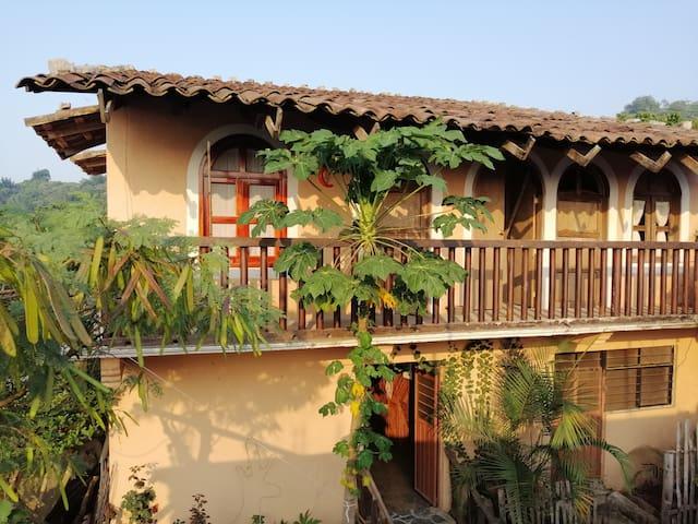 Habitación en casa tradicional indígena