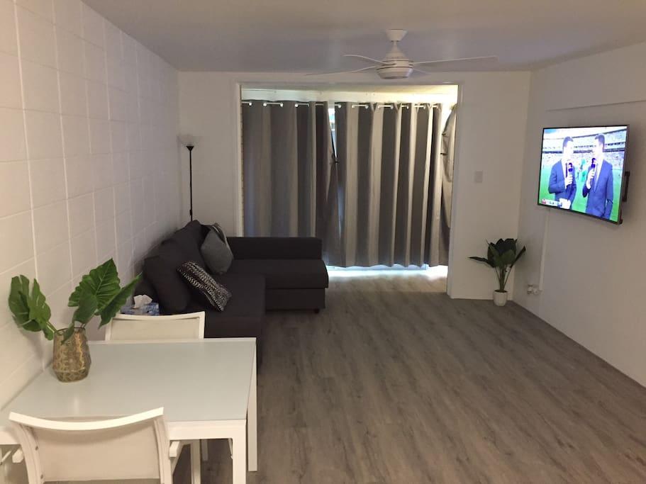 Lounge Room and big screen  TV