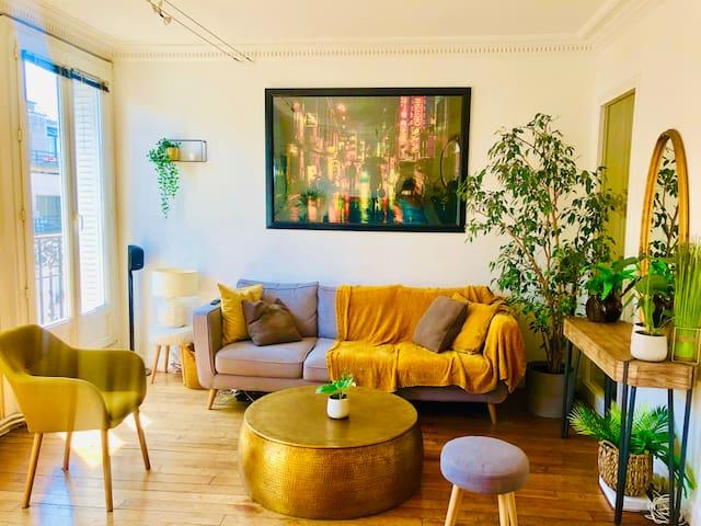 Beau et lumineux appartement à 2 pas de Paris expo