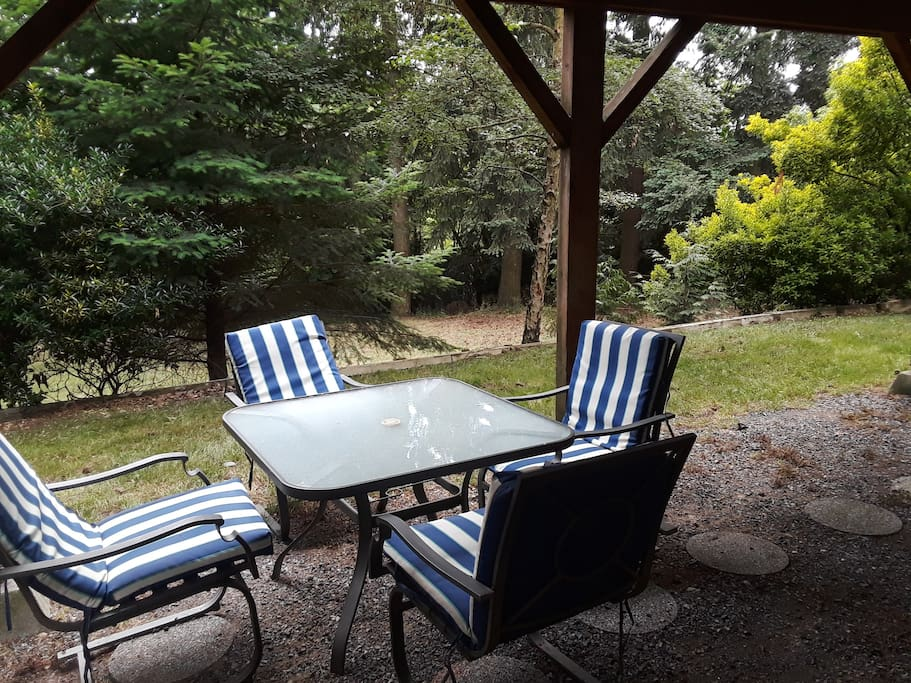 Private back yard on 1/3rd acre