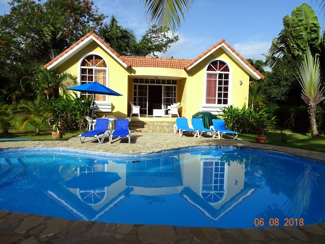 BEAUTIFUL VILLA with POOL and GARDEN in SOSUA