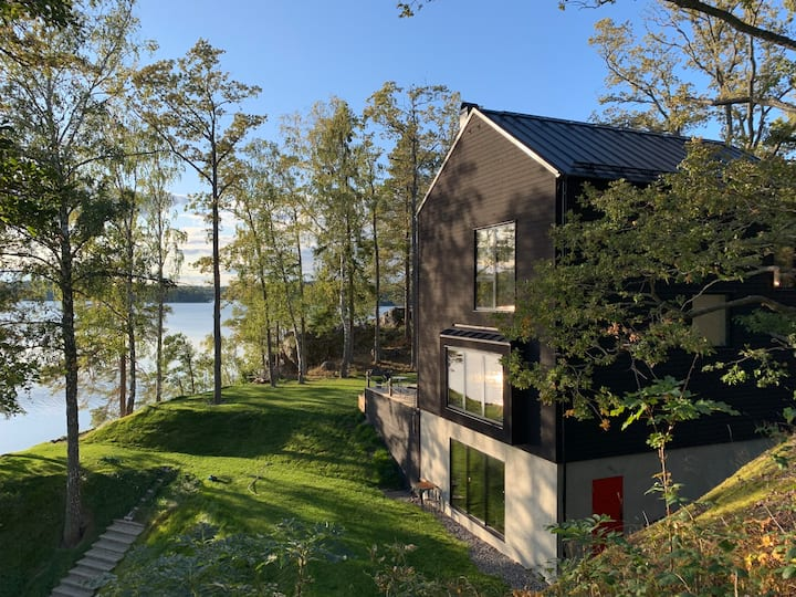 New Designer Villa on Private Lake Side Property