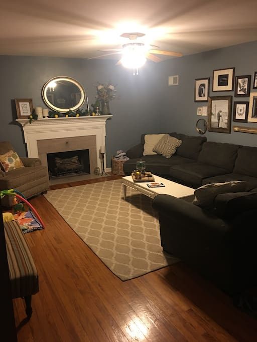 Living room- large couch. Could sleep 2 very comfortably.