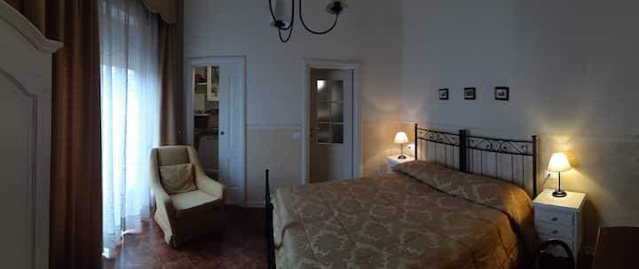 Camera con vista terrazzo e solarium