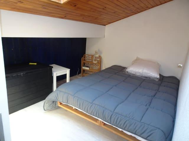 Chambre lit 2 places (mezzanine)