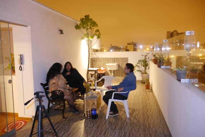 Bedroom w private bathroom border Barranco & Miraf