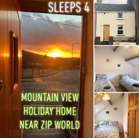 Mountain View Nr Zip World - Golygfa Mynydd