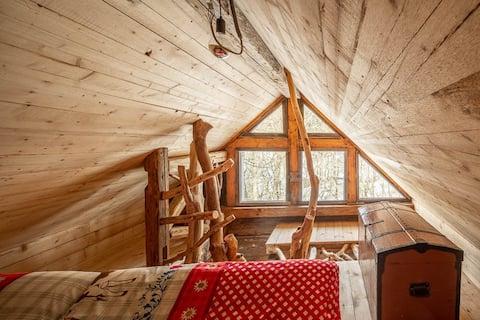 Romantische Hütte