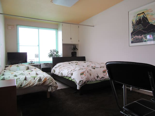 Green / Close to biei& Zoo/wifi - Asahikawa-shi - Apartmen