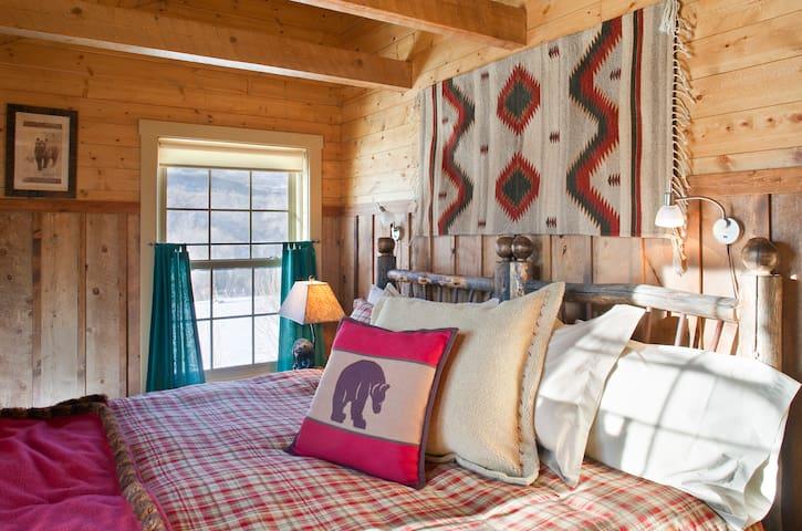 King Bedroom in the Oak Cabin