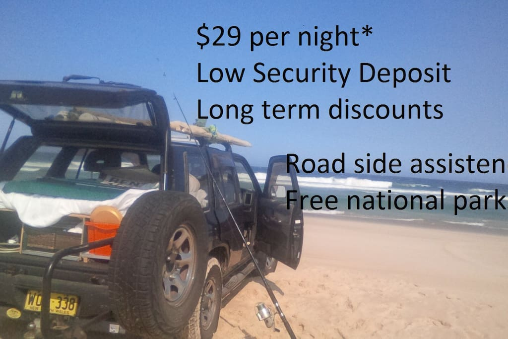 insurance excludes beach use , *Mon to thurs rate without insurance.