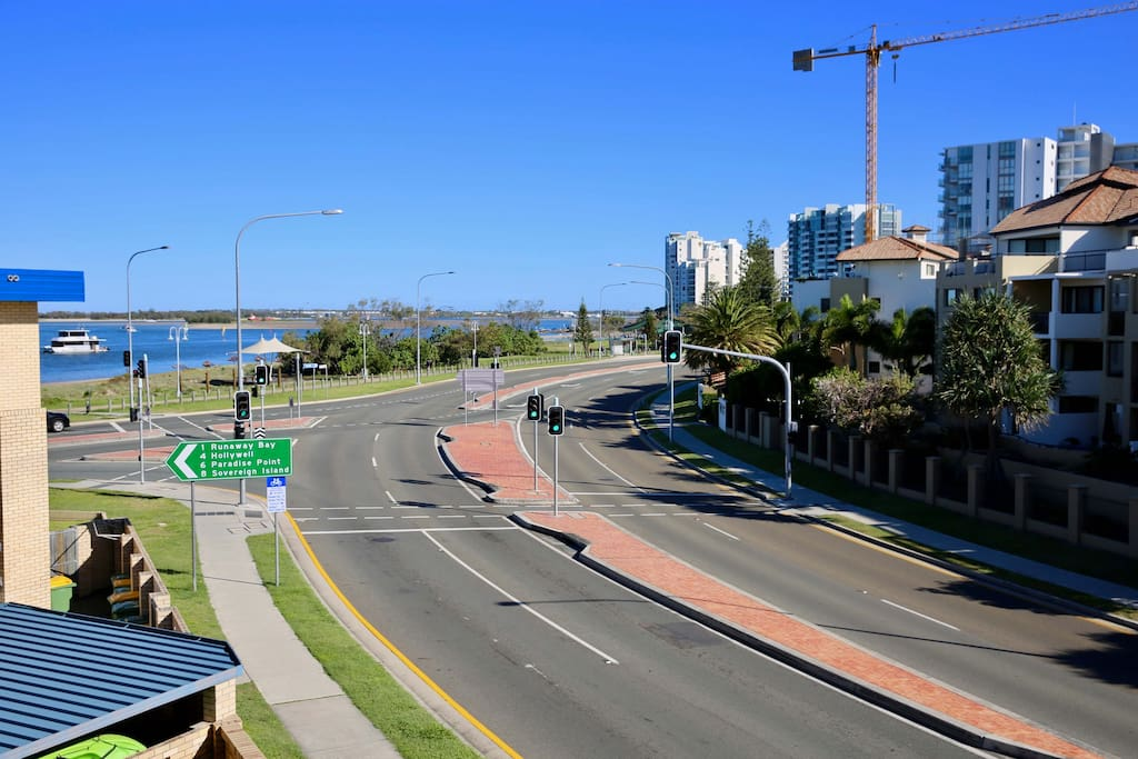Broadwater views with a short stroll to the beach