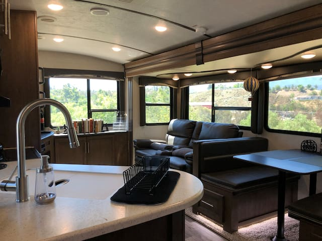 Wine Country Luxury RV with Lavender Garden