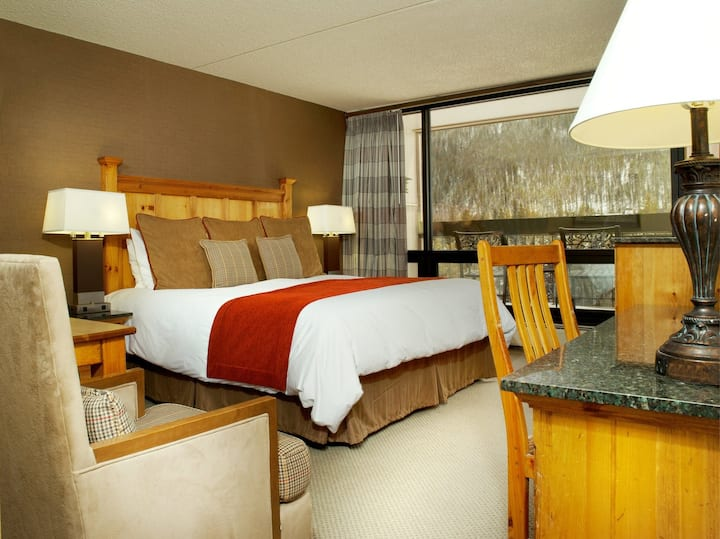 Cozy + Bright Lodge Room | Full-Service Spa just downstairs!
