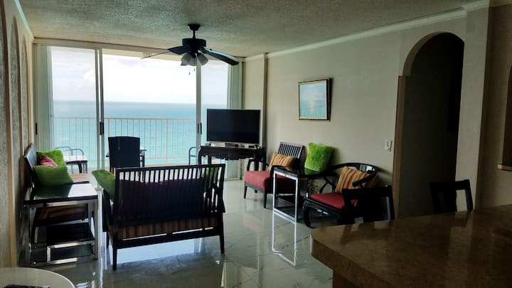 Open air, 19th floor,  Family Friendly Ocean View