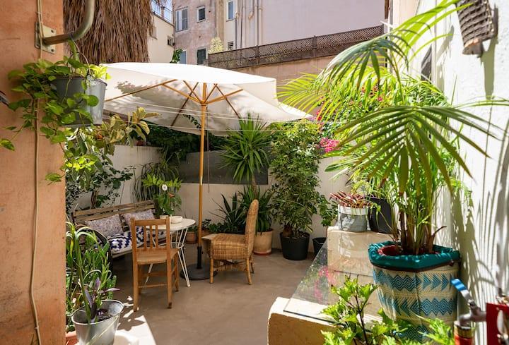 Casita con jardín en el centro histórico de Palma