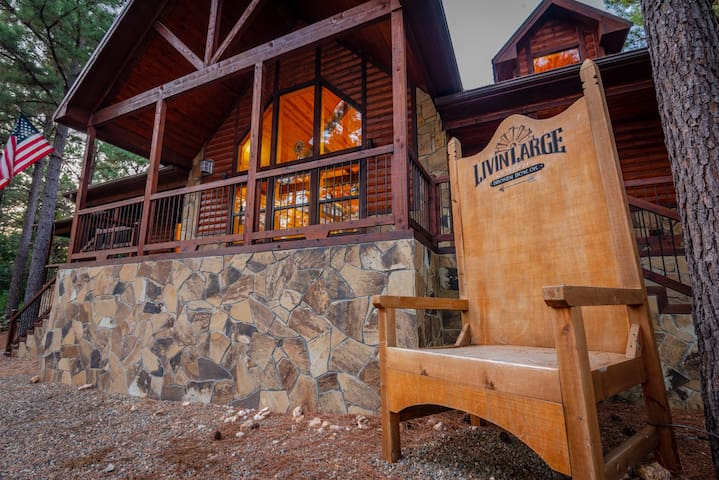 Livin' Large  The name says it all! Brand new and tucked away in the newly developed Pine Hills edition, this 2900 sq ft luxury cabin has everything you need to relax and unwind from the stress of daily life!