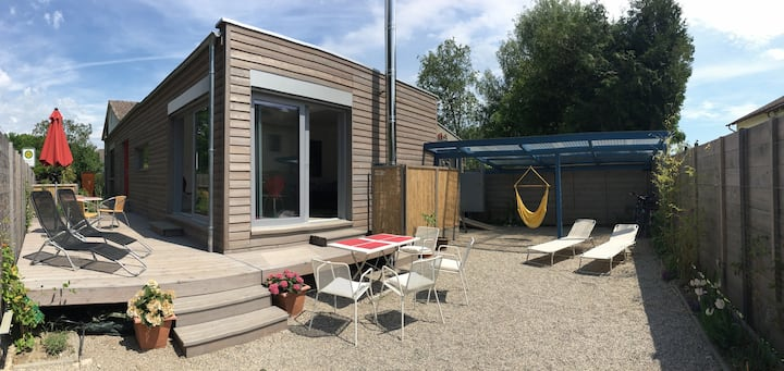 Modernes Holzhaus 5 Minuten vom See