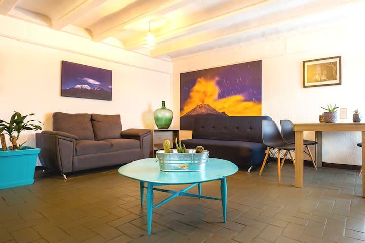 Cozy apartment in historic downtown in Puebla
