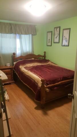 Relax with memory foam Queen bed