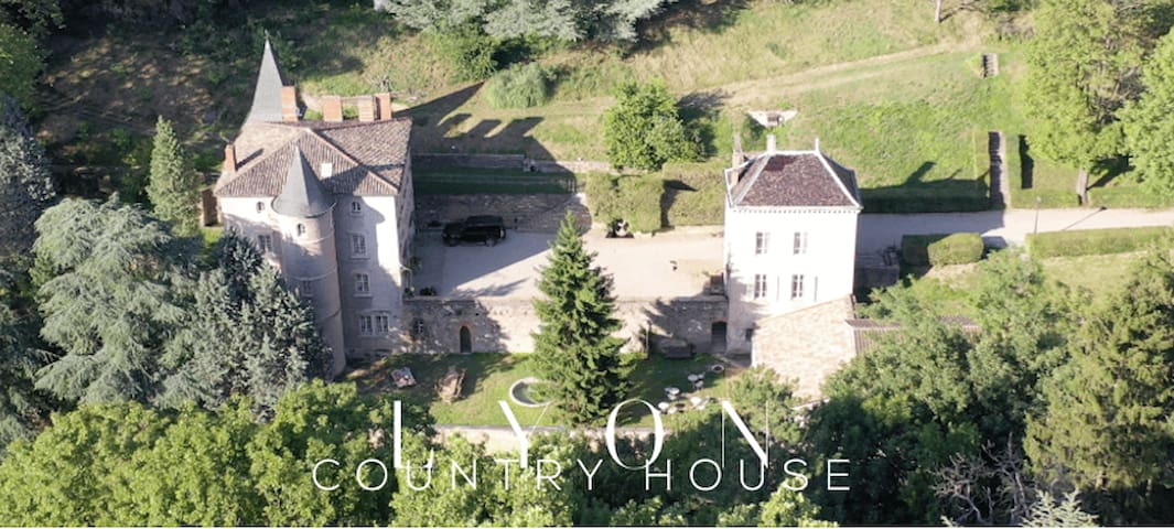 LYON COUNTRY HOUSE FAMILY CASTLE ABOVE RIVER SAONE