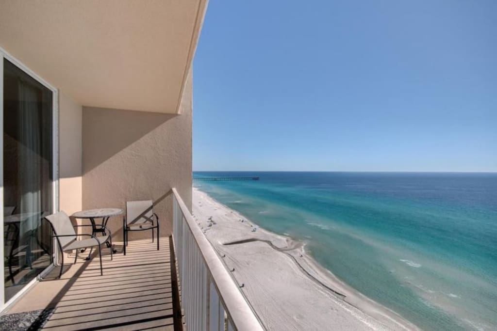Step out on to your private balcony