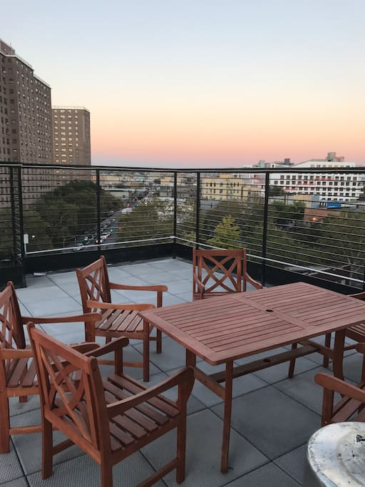 Rooftop dining table
