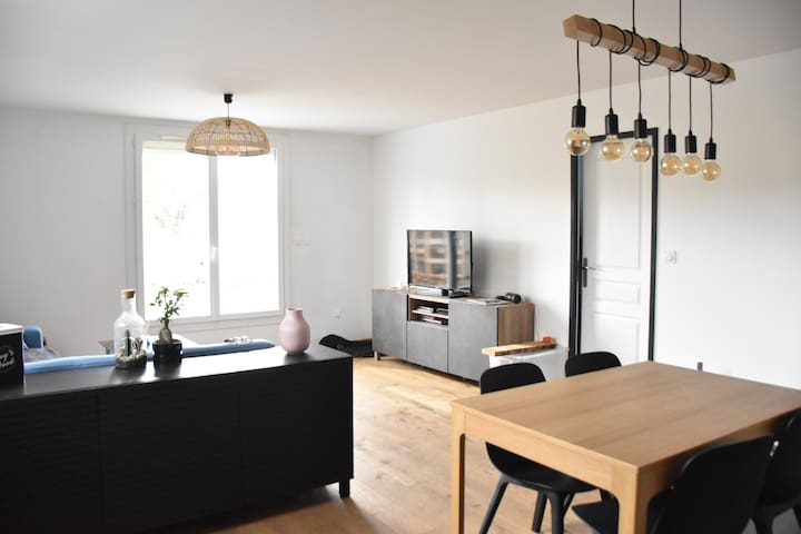 T2 50m² - Cosy/Chill - 15mn from center - Parking