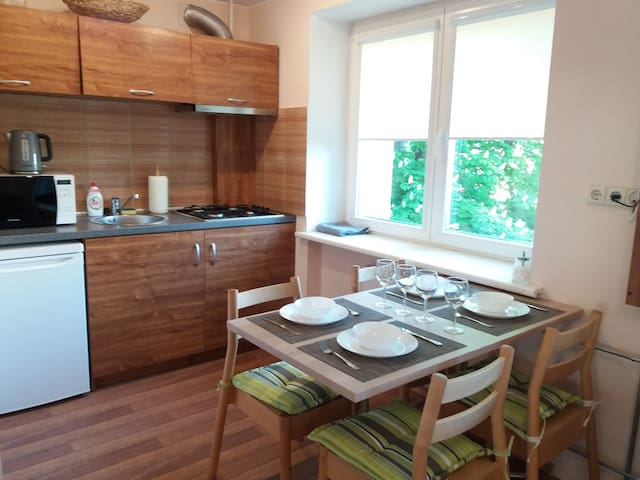 Apartment with a balcony in the centre of Palanga