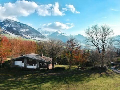 Einfamilienhaus in den Schweizer Alpen