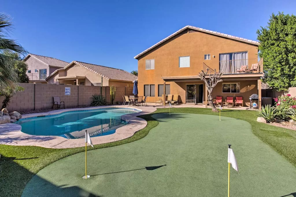 Heated Pool Private Putting Green 5 Bdr House Houses For Rent In Phoenix Arizona United