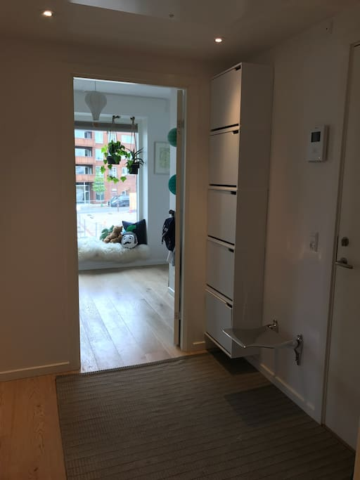 Hallway with view to the small bedroom/childrens room