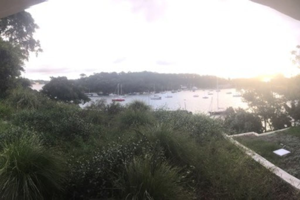 Amazing view of Berry's Bay at sunset
