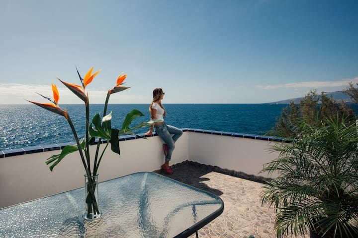 Amazing CASITA  ¨above¨  the Ocean - Santa Creu de Tenerife - Pis